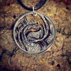Ying Yang Dragon - Coin Pendant - Thornhill Jewellery