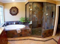 Faux Slate Master Bath