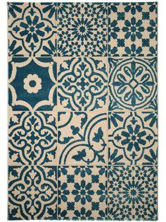 Tapis contemporain tapis infinity bleu saint maclou for Moquette bleu canard