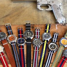 NATO Watch Straps  ... if I have this.. i will start wearing watches.. everyday.. super nice.. not boring watches!