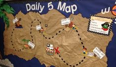 $2 - Daily 5 Bulletin Board - Pirate Themed - Digital Download