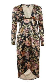 d08491ecae2a Velvet Floral Print Plunge Dress - Going Out - Clothing