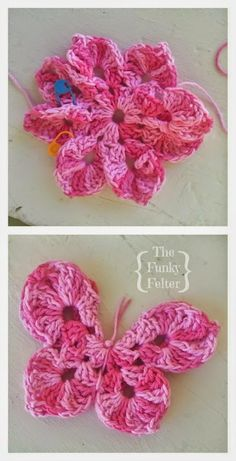 crocheted butterfly embellishment free pattern