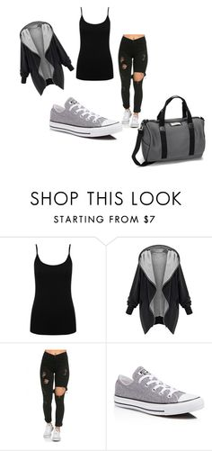 """""""Untitled #150"""" by kajuska-bublinka on Polyvore featuring M&Co, Converse, DAY Birger et Mikkelsen, women's clothing, women, female, woman, misses and juniors"""