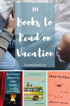 Everyone should bring a book to read on vacation. It's a nice way to relax and de-stress. Here are 10 of my top book recommendations for your next trip! These books aren't about travel, but they're perfect for reading while you travel. Summer Books, Summer Reading Lists, Beach Reading, Book Nerd, Book Club Books, Book Lists, Book Clubs, Book Suggestions, Book Recommendations