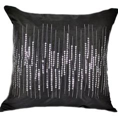 grey and white room Cushion Covers, Throw Pillow Covers, Grey And White Room, Sewing Pillows, Vintage Couture, Club Style, Black Sequins, Pillow Shams, Decorative Throw Pillows