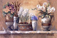 Art Print: Antique Blossoms Art Print by James Lee by James Lee : Decoupage, James Lee, Poster Prints, Art Prints, Floral Theme, Stretched Canvas Prints, Vintage Flowers, Original Image, Painting On Wood