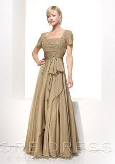 cfb69b222ef A-line Square Floor-length Chiffon Mother of Bride Dress at Promgirlshop.com