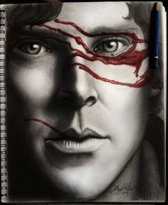 Sherlock Benedict Cumberbatch graphite drawing - WOW!! This is utterly beautiful. Bravo to the artist!