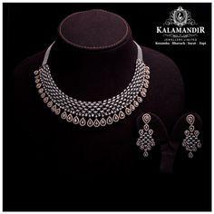 Real Diamond Necklace, Diamond Bangle, Diamond Jewellery, Diamond Pendant, Jewellery Sketches, Gold Jewellery Design, Bridal Jewelry Sets, Necklace Designs, Contemporary Jewellery