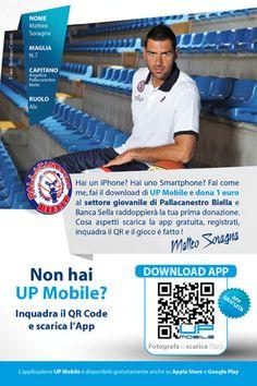 PALLACANESTRO_cartolina2(2)  Pallacanestro Biella e QR Code  http://www.pallacanestrobiella.it/news/con-up-mobile-sostieni-il-settore-giovanile# grazie ad Andrea Annunziata