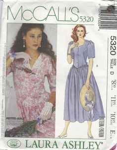McCall Laura Ashley Misses Dress Sewing Pattern 5320