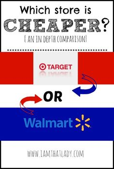 Have you always wondered which store is cheaper? Walmart of Target?  Here is an in depth look, you may be shocked to see which one has consistently lower prices!
