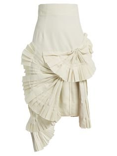 Click here to buy Jacquemus Pleated fan-detail midi skirt at MATCHESFASHION.COM