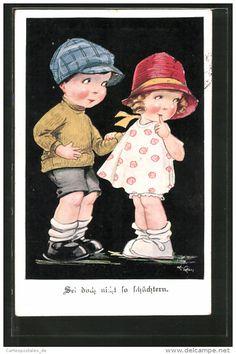 CPA Illustrateur Arthur Butcher: Sei Doch Nicht So Schüchtern, Kleines Paar