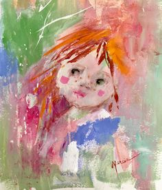Elf - a whimsical painting of a little girl