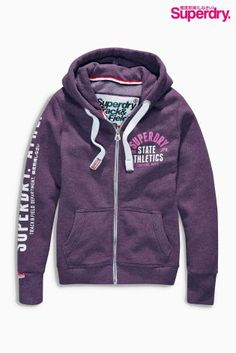 Buy Superdry Aubergine Silver Logo Hoody from the Next UK online shop