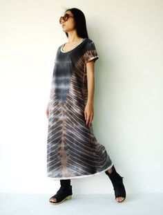 For my birthday please? Smallest Size? Black and Brown Cotton Jersey TieDye Tee by JoozieCotton, $46.00