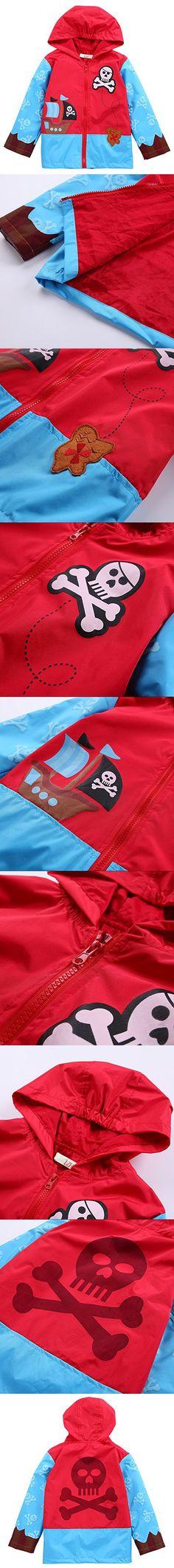 LZH Baby Girls Boys Waterproof Raincoat Windbreaker Hooded Bomber Jacket (130(For Age 5-6Y), Light Blue)