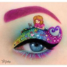 Estos garabatos arcoiris de esta alma creativa. | 21 Looks de maquillaje de ojos que están garantizados a darte envidia Eyeliner Looks, Eye Art, Cool Eyes, Makeup Looks, Crazy Makeup, Beauty Makeup, Eye Makeup Art, Makeup Tips, Makeup Ideas