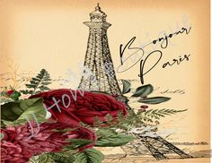 Paris Clipart, Paris Eiffel Tower, Background Vintage, Us Images, All Design, Digital Image, Shabby Chic, Card Making, Stationery