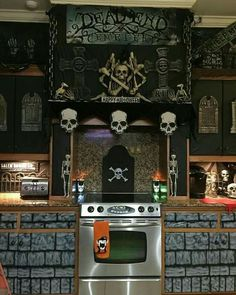 ..A good inspiration on how to spice things up to decorate for Halloween in the kitchen..