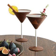 Wooden Martini Glasses - Set of 2 1