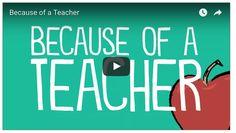 Because of teachers (a short tribute video) - john spencer Pe Teachers, History Teachers, Special Education Teacher, Teacher Librarian, Math Teacher, Teaching Math, Teacher Stuff, Inspirational Videos For Teachers, John Spencer