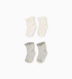 Image 1 of Lace trim polka dot socks (pack of two pairs) from Zara
