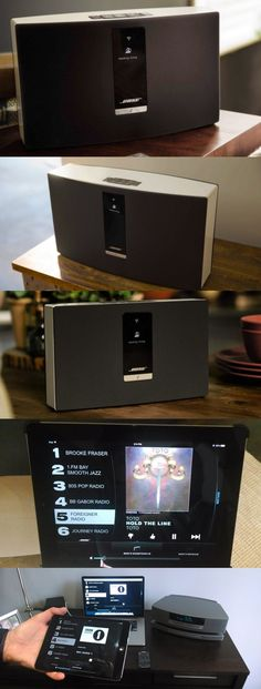 Bose SoundTouch Wi-Fi music system: Three new wireless speakers with the same simple user experience. The $400 SoundTouch 20 (top), $700 SoundTouch 30 and $400 SoundTouch Portable can be configured with free Android, iOS, Mac and Windows apps to stream music from Pandora, Internet radio, a networked computer or a mobile device. A touch of one of six preset buttons turns on the speaker and starts the audio stream. Coming in December: The $600 Bose Wave SoundTouch music system radio (bottom).