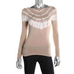 INC Womens Petites Tie-Dye Sequined Pullover Top