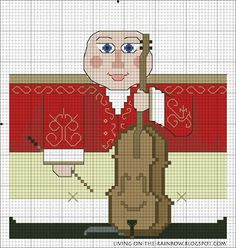 Christmas Ornament 'Cellist' Free Pattern 3/3