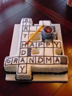 Crossword Puzzle on Cake Central