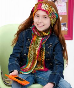 Sock It to Me Scarf & Headband Crochet Pattern - Download Excellent Printable Instruction Sheet