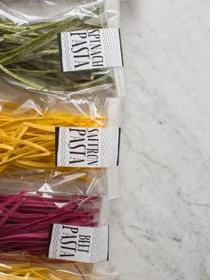 What a unique idea for a DIY gift--homemade pasta and sauce. Love it and love the packaging from SpoonForkBacon!  #Avery