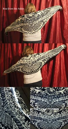 Rise from the Ashes Phoenix Shawl by aetherfang.deviantart.com on @deviantART