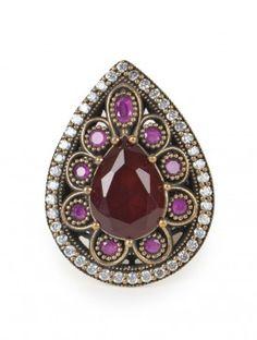 Boheme Zircon Turkish Ring (Size - 6) #mughal #jewelry