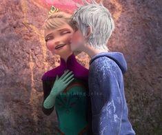 jack frost, jelsa, and frozen image Princesa Disney Frozen, Disney Princess Frozen, Disney Princess Pictures, Princess Luna, Flame Princess, Princess Celestia, Princess Bubblegum, Jelsa, Disney Crossovers