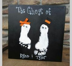 Halloween ghost feet;-)