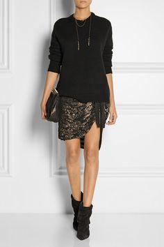 Isabel Marant embellished silk-georgette mini wrap skirt