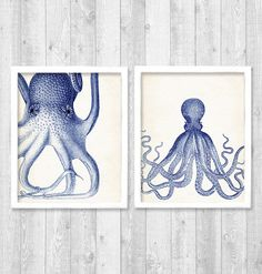 Printable octopus wall art