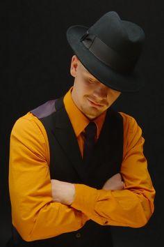b15cba1c5e1 Classic fashion black wide brim felt fedora hat for men