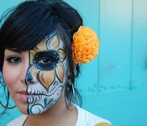 Scary Day of the Dead Face Paint