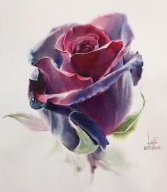 Видеоурок: научитесь писать розы акварелью так же невероятно как это делает художник ЛаФе из Таиланда