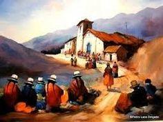 Resultado de imagen para ANDEAN PAINTING PERU Mexican Paintings, Peruvian Art, Latino Art, Spanish Dancer, Cusco Peru, Z Arts, Mexican Art, Graphic Patterns, Art World