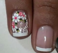 Beauty Tips And Secrets, Get Nails, Finger Painting, Flower Nails, Perfect Nails, French Nails, Mani Pedi, Eye Make Up, Nail Arts