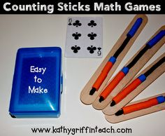 DIY Counting Stick Activities for Preschool and Kindergarten. Meaningful Math activities for teaching number sense.