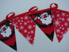 2 meters father christmas and snow flakes christmas bunting christmas bunting