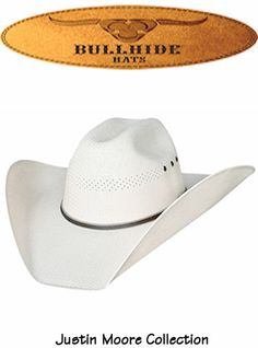 8798fb94552 Bullhide Hats California Straw Bait A Hook 50X Justin Moore Signature  Collection 2694 Mens Natural
