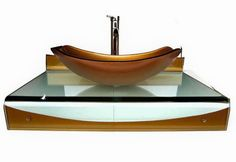kokols 31 inch wall mount vessel bathroom vanities mustard gold sink combo set